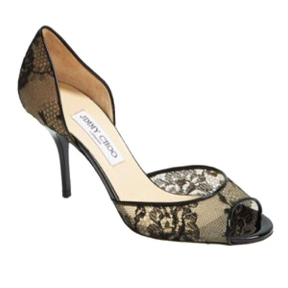 Jimmy Choo 'Lien' Lace Open Toe d'Orsay Pump  ( ( ( Taille 40--10) 42d400