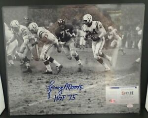Lenny-Moore-Signed-Auto-16X20-Baltimore-Colts-B-amp-W-Photo-W-HOF-75-SCH-Auth