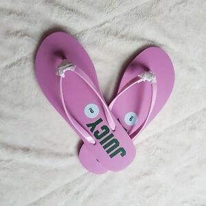 acf65380db666 New JUICY by Juicy Couture Women Pink Logo Flip-Flop Sandals sz 9 M ...
