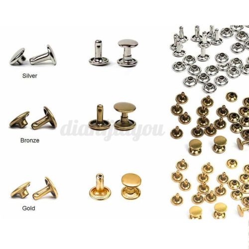 360PCS Leather Rivets Kit Double Cap Rivet Tubular Metal Studs Setting Tool Set