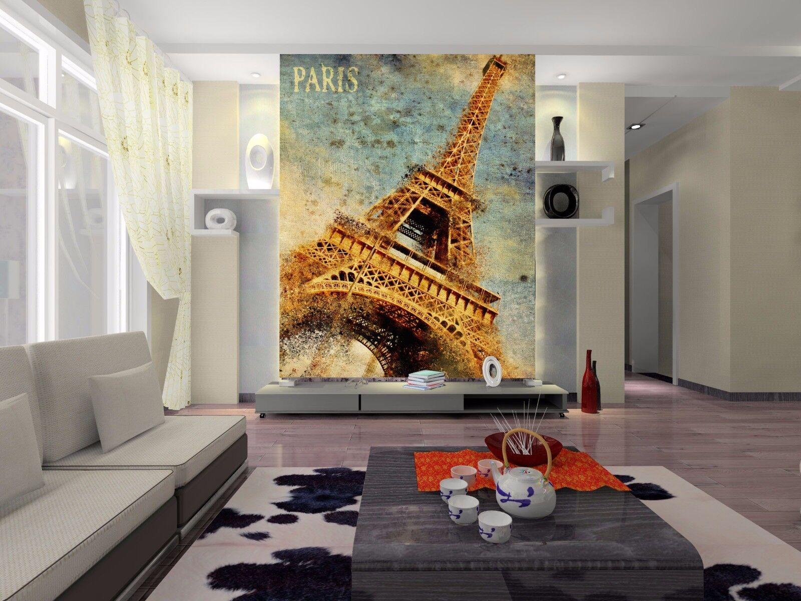 3D Eiffel Tower 1096 WallPaper Murals Wall Print Decal Wall Deco AJ WALLPAPER