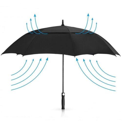 Regenschirm 158 cm GolfSchirme für herren männer Famil Automatik Stockschirm