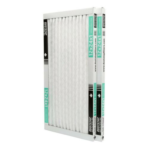 """2 Pack 1/"""" x 12/"""" x 24/"""" Pleated Furnace Filters"""