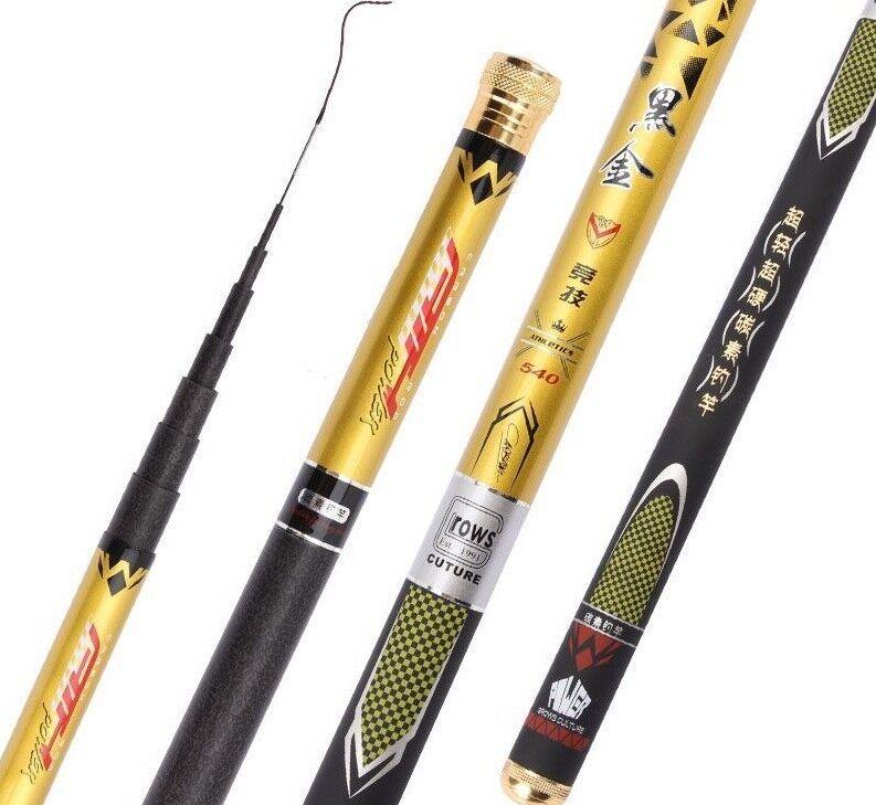 Super Light Hard Telescopic Fishing Rod Carbon Fiber Hand Pole For Carp Fish Kit