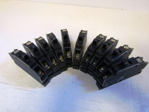 LOT OF 10 ZINSCO// T /& B QB20 1 POLE 20 AMP 120 VOLT 10KA@240VOLT CIRCUIT BREAKER