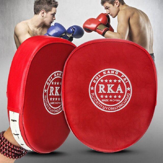 2X Boxing Mitts Gloves Training Target Focus Punch Pad MMA Thai Muay Kick Karate