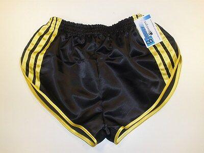 Black /& Turquoise Retro Nylon Satin Football Shorts S to 4XL