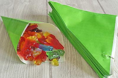 10 Papiertüten Spitztüten grün 19 cm Geschenktüten CandyBar OSTERN Ostertüten