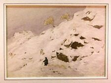 INDIA HIMALAYAN VIEWS H DE TEISSIER FIGURE ON SNOWY MOUNTAINSIDE  W/COL 1847