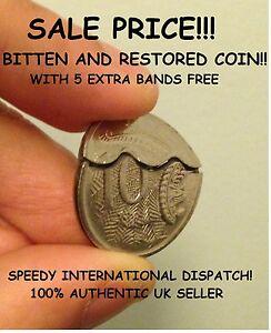 Australian-10-cent-Bitten-and-Restored-Coin-David-Blaine-Close-up-Magic-Trick