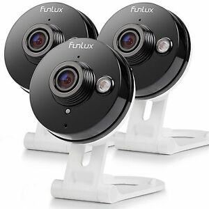 Funlux® Mini 720P HD Wireless IP IR Two-Way Audio Home Security Camera (3-Pack)