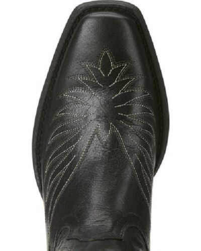 ARIAT Women/'s Black Round Up Phoenix Square Toe Western Boots 10021583 NIB