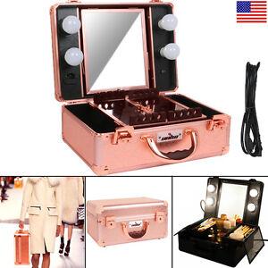 Unho Studio Togo Makeup Case Organizer Lighted Mirror Vanity Box