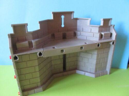 PLAYMOBIL * Mur gros mur partie wandteil + wehrgang gris à 3268 roi Ritterburg