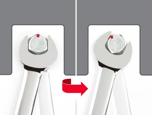 TEKTON WRN57113 Flex-Tête à Cliquet Clé mixte 13 mm 6-Point Box Fin