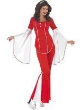 Super Trooper Costume Agnetha 1970s Adult Womens Ladies Fancy Dress S-L