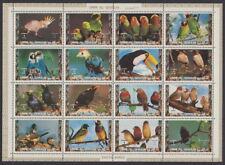UMM AL QIWAIN - 1972 Exotic Birds - 1st Series (16v) Sheetlet - UM / MNH