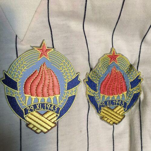 Yugoslavia Coat of Arms Adidas Soccer Jerseys Football SFRJ Jugoslavija GRB SEW
