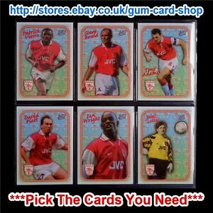 ☆ FUTERA Arsenal Hot Shots Chrome Embossed 1999 *Set of 9 Cards*