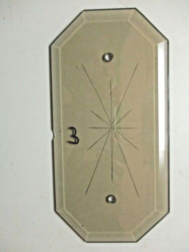 """Octagon Beveled Glass Chandelier Panel 2 Holes Star Gray Smoke 1 Lamp Part 8/""""X4/"""""""