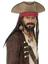 ONE SIZE PIRATE HAT MENS PIRATE FANCY DRESS