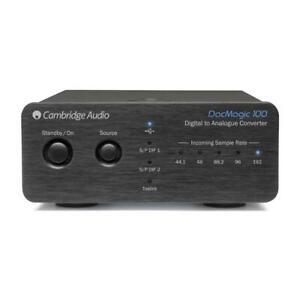 CAMBRIDGE AUDIO DacMagic 100 DAC Wandler Digital Analog Converter schwarz black