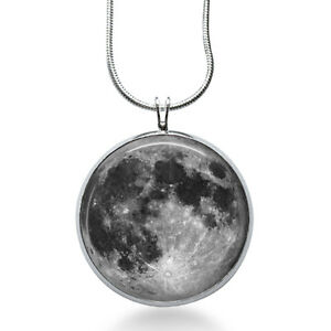 FULL-MOON-Necklace-Space-Picture-Pendant-Galaxy-Jewelry-Full-Moon-Galaxy