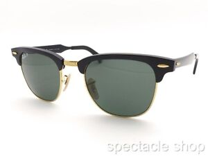 b6769fc16a Ray Ban Clubmaster Aluminum 3507 136 N5 Brushed Black Polar New ...