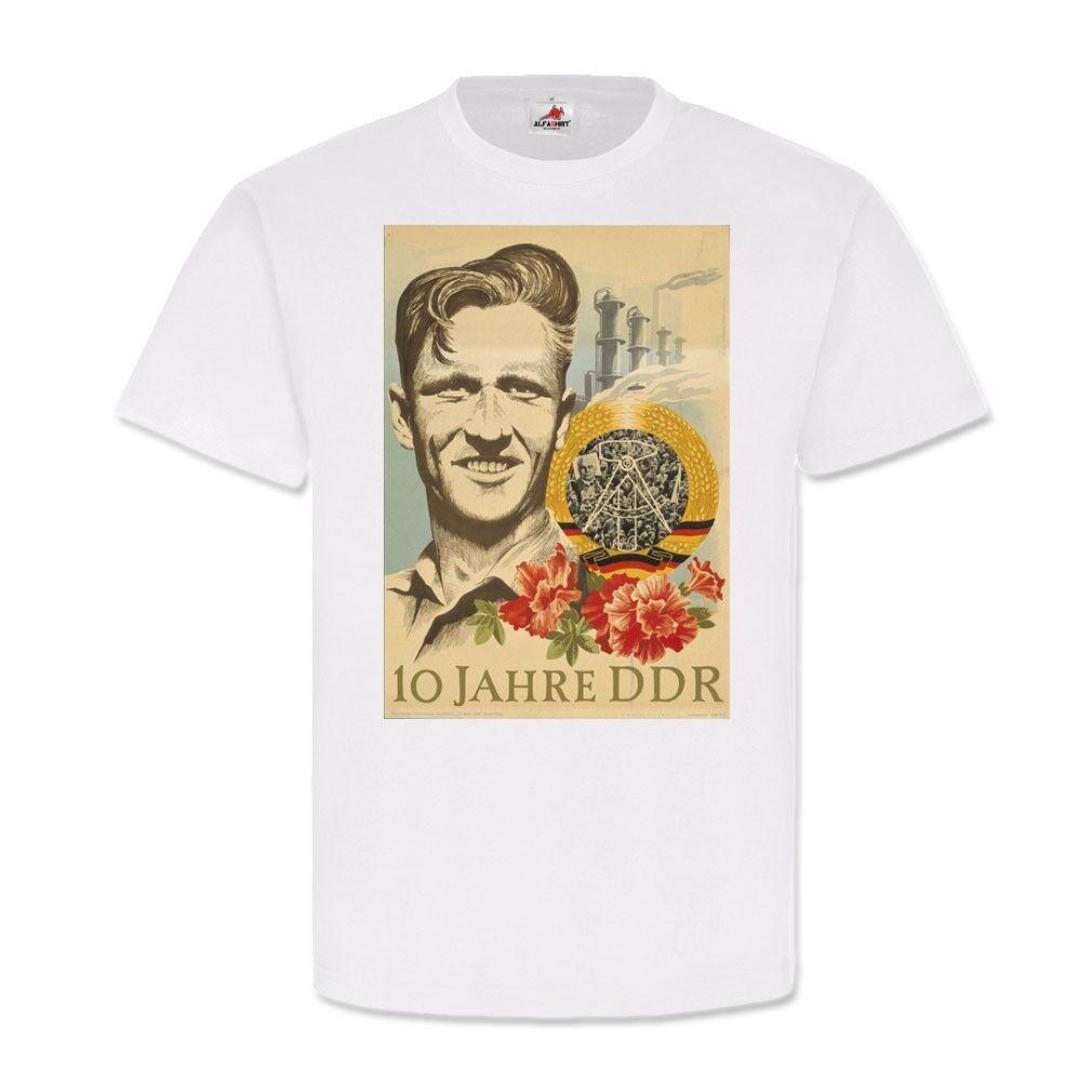 10 Jahre DDR Ostalgie Deutsche Demokratische Republik T-Shirt 23102     Reichhaltiges Design    Günstig    Moderater Preis