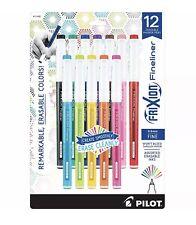 Pilot Frixion Fineliner Erasable Marker Pen Fine Point Assorted 12 Count