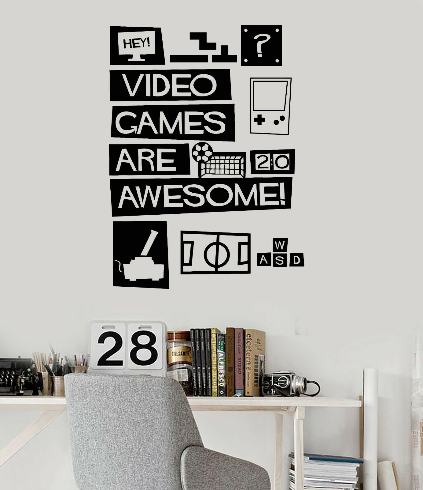 Vinyl Wall Decal Video Games Quote Gaming Teen Room Stickers (ig4473)