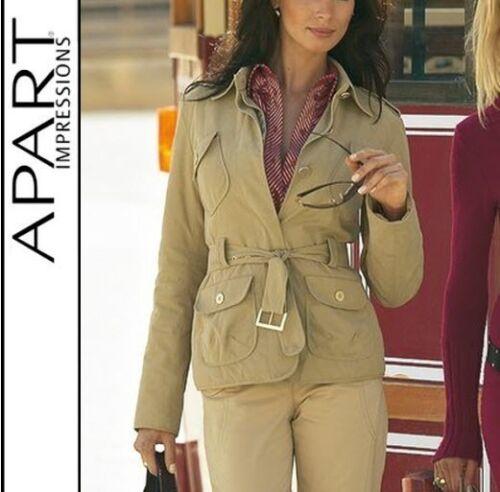 507628 NUOVO Design Giacca Africa Safari preziose Style Taglia 34 36 38 40 Apart SABBIA € 80