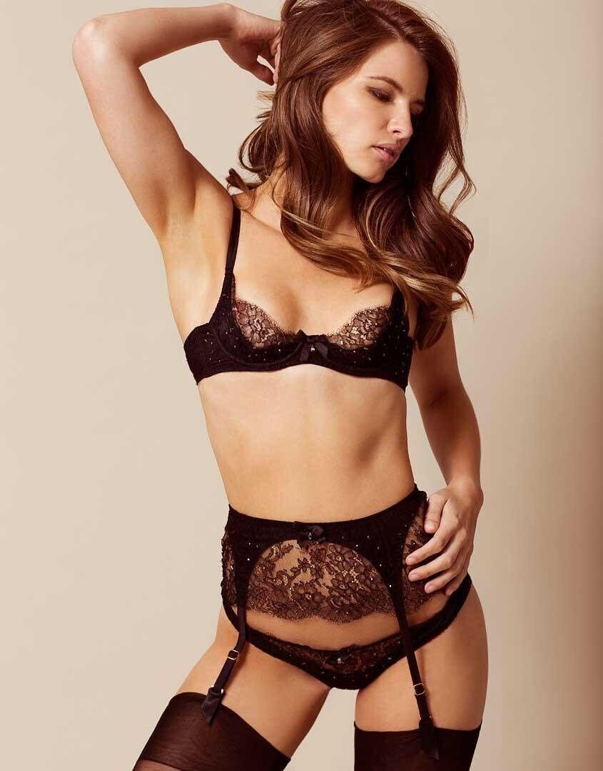 a19690960d2 ... BNWT Sexy Agent Provocateur Izmira Lace Bra Thong Brief Garter Garter  Garter Suspender 5f2c14 ...