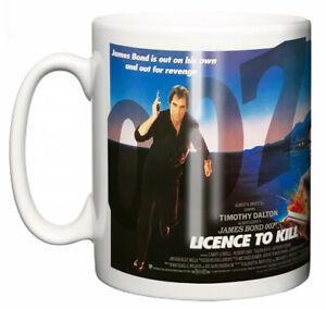 Dirty Fingers Mug, Timothy Dalton James Bond Licence To Kill, Film Movie Poster