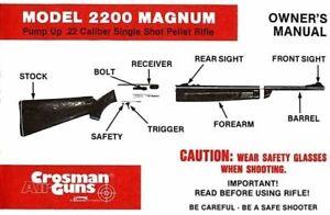 crosman model 2200 magnum manual 1970 ebay rh ebay com crosman 2200 magnum parts list crosman 2200 magnum parts diagram
