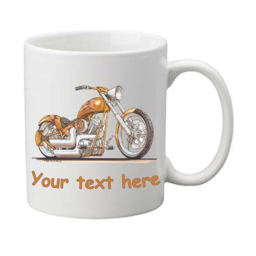 Personalised Harley Chopper Cruiser Motorcycle Koolart Mug Cup Gift