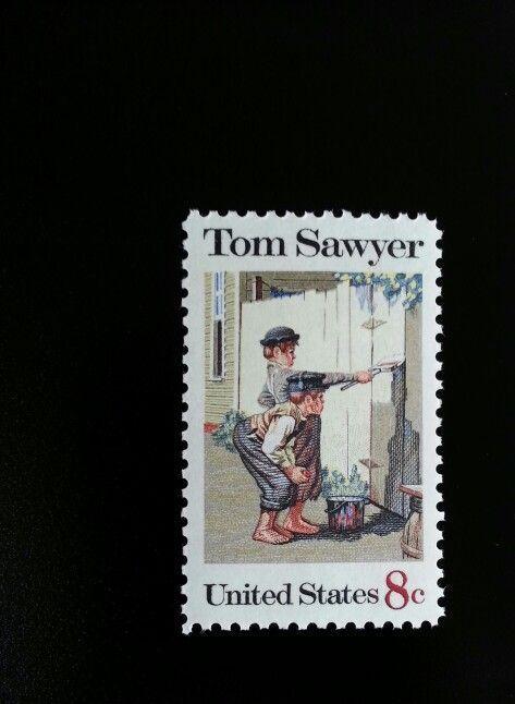 1972 8c Tom Sawyer, Mark Twain Novel Scott 1470 Mint F/