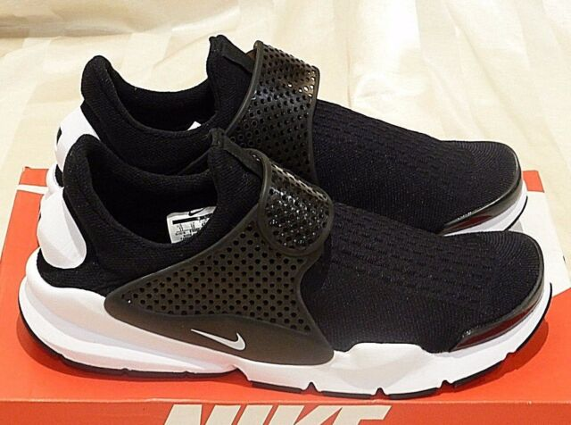 6fd0a24e47b8 Nike Sock Dart KJCRD Size 10 US Black White Mens Running Shoes for ...