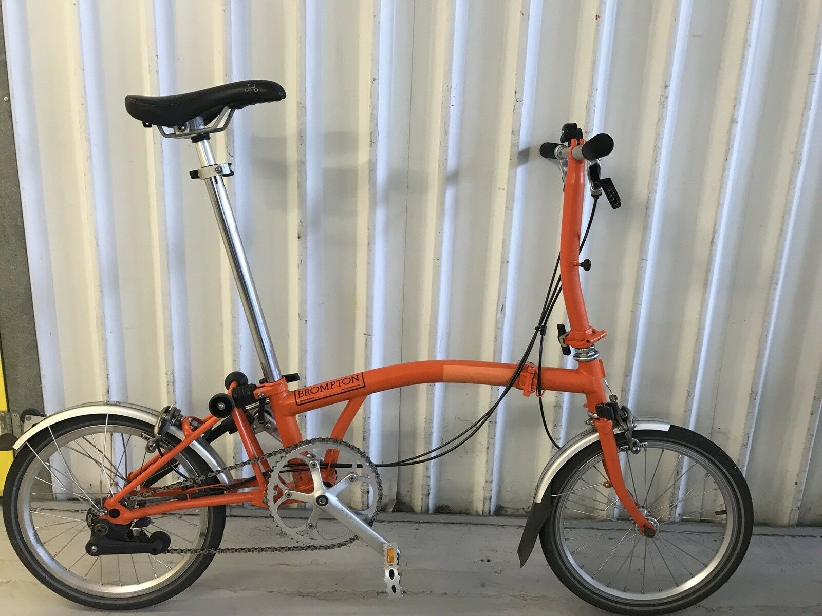 Brompton S3L Orange en Parfait état ** Worldwide P P P & P ** ea7de1