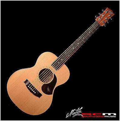 maton mini em6 solid acoustic electric guitar with hard case em 6 brand new ebay. Black Bedroom Furniture Sets. Home Design Ideas