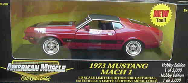 1973 Mustang Mach 1 rosso 1 18 Ertl American Muscle 33196