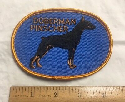 I LOVE MY DOBERMAN  EMBROIDERED PATCH