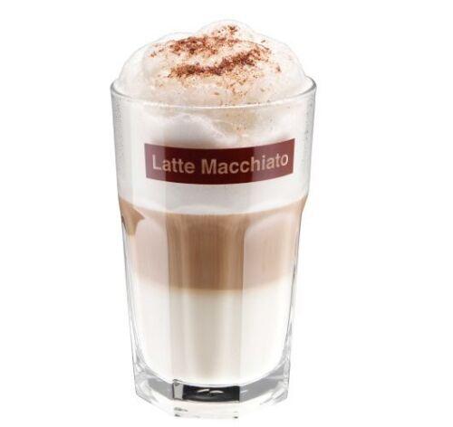 LATTE MACCHIATO 12 Stück Gläser Frappé Cappuccino Kaffeegläser 360ml 0,36L Glas