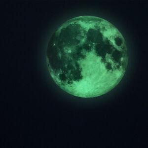 3D-Mond-Fluoreszierend-Wandtattoo-Nachtleuchtend-Selbstkleben-Aufkleber-Sticker