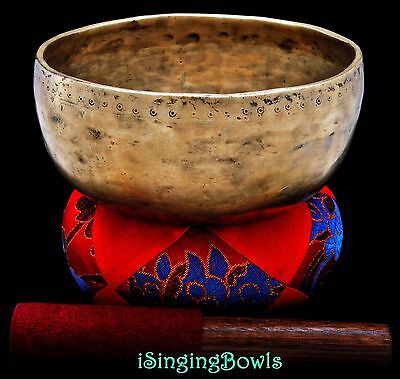 "Antique Tibetan Singing Bowl: Void 7 1/4"" circa 18th century, C#4 & G5. VIDEO"
