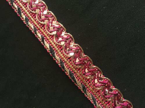 20 Colours 1Metre Upholstery//Cushion//Indian 17mm Braid Trim//Lace//Gimp