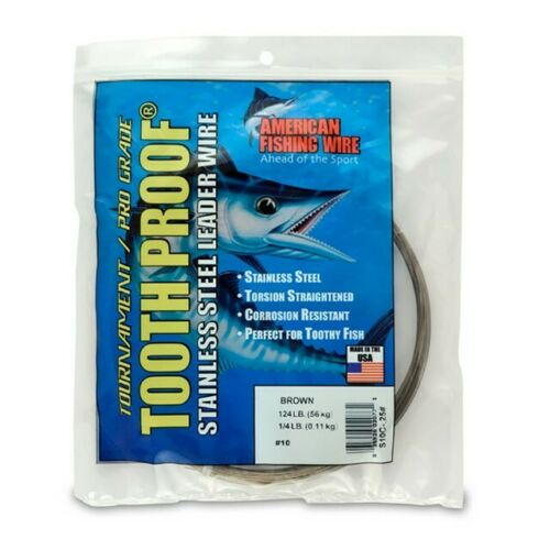 AFW S08C-0 30/' Camo 86Lb .051 Diameter Tooth Proof Wire