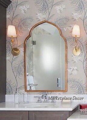 Arched Wall Mirror Kenitra Antique Gold Finish Moroccan Vanity Foyer Bathroom 792977129074 Ebay