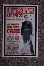 Fabuous Johnny Cash Concert Tour Poster1967 Minneapolise Auditorium June Carter