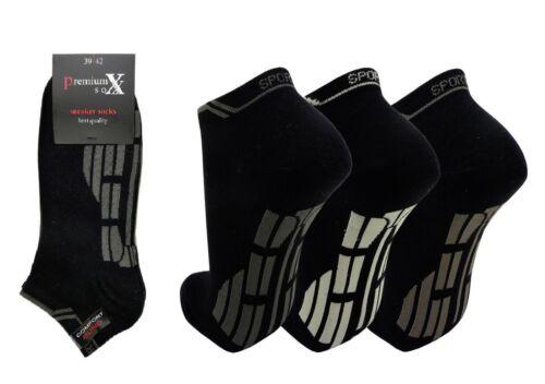 3 6 o 12 Paia Calzini Uomo Sneakers POLARZIP NERO 1f4